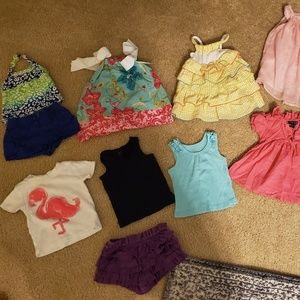 6-9 month's girl's clothing lot